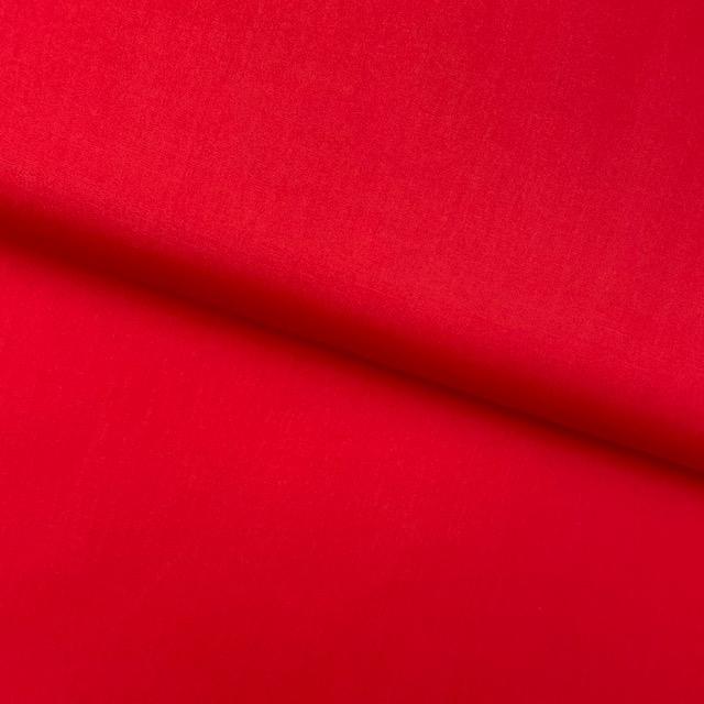 Baumwollpopelin, Uni, rot. Art. SW11422