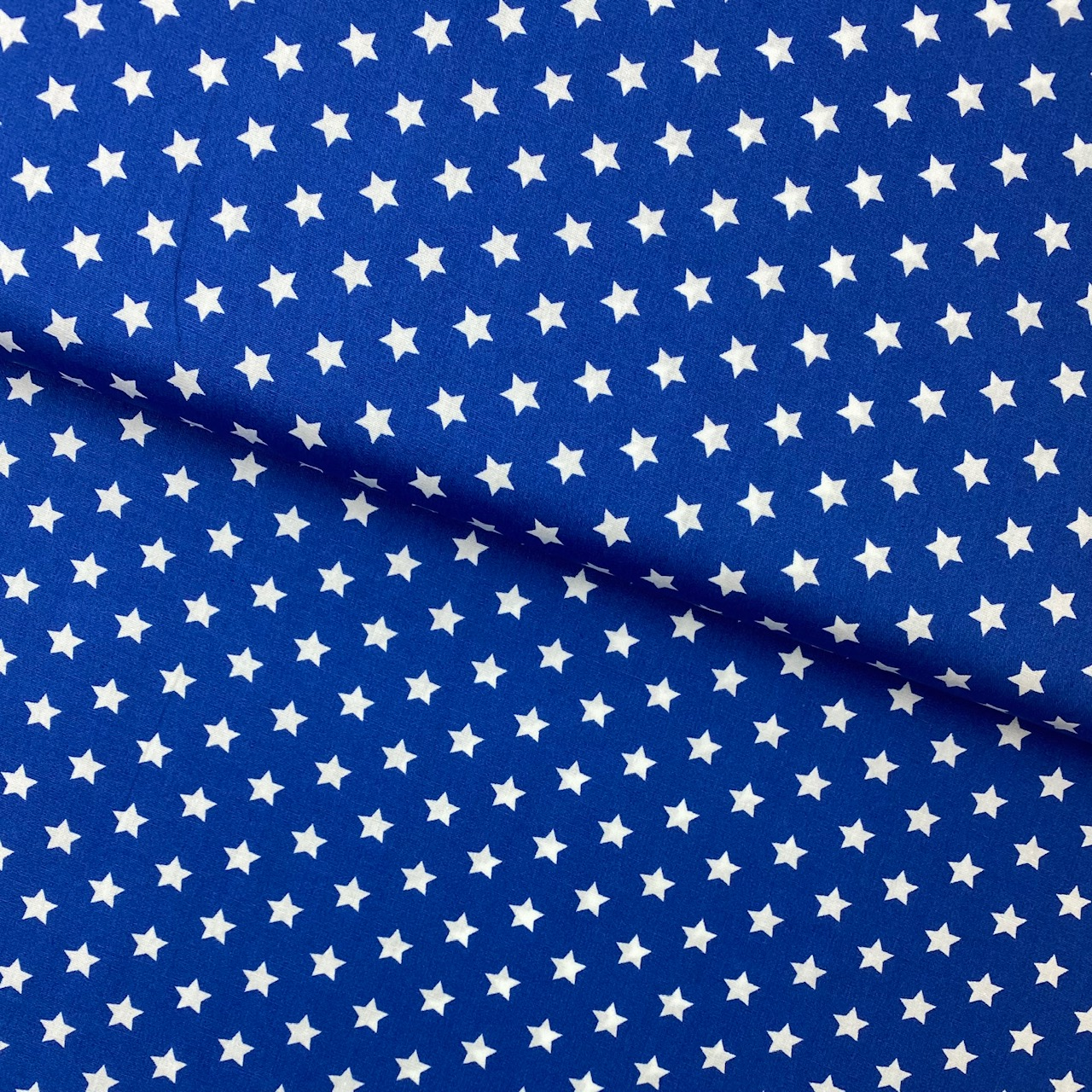 Baumwollpopeline, Sterne, royalblau. Art. SW11379