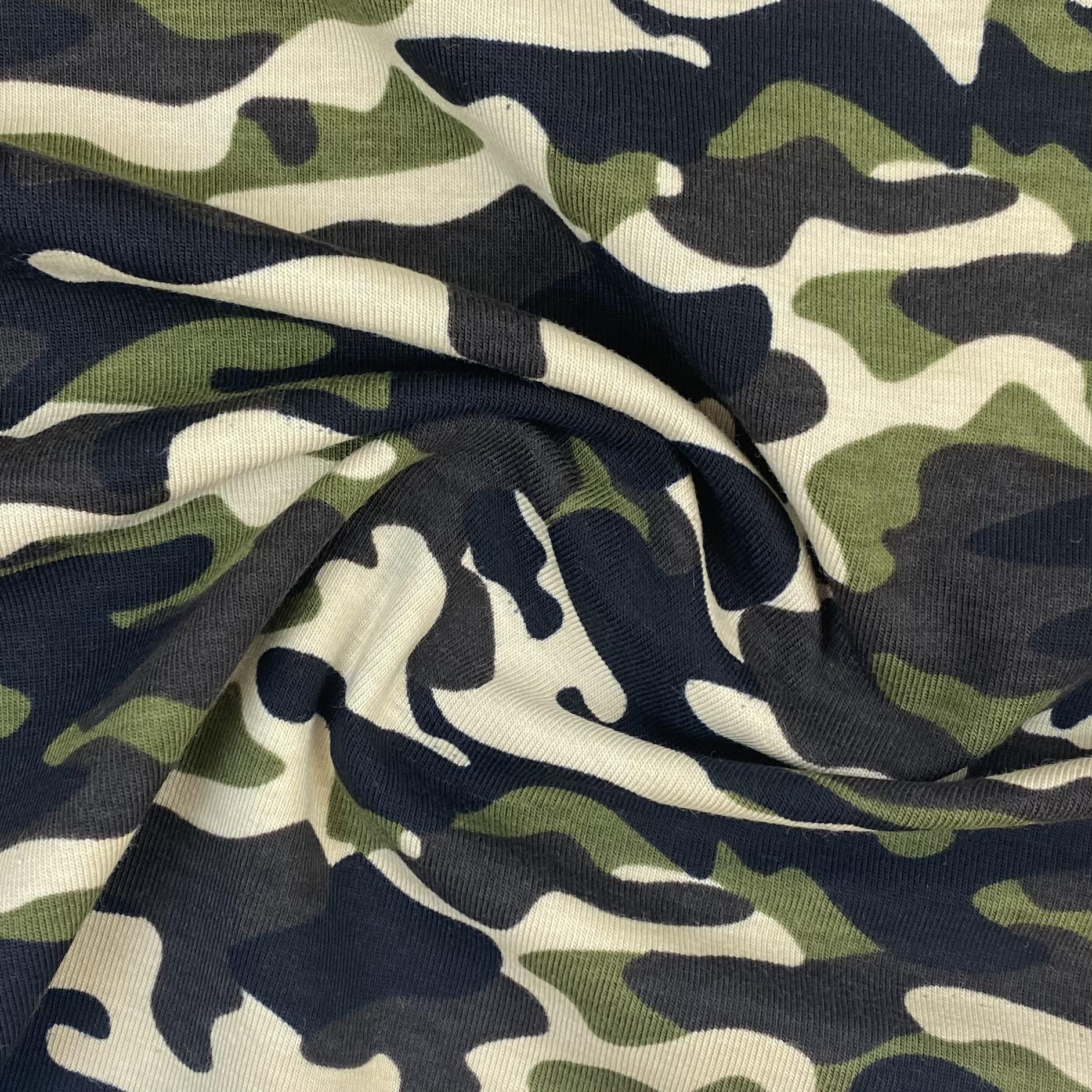 Baumwolljersey, Camouflage grün, Art. 340084.001