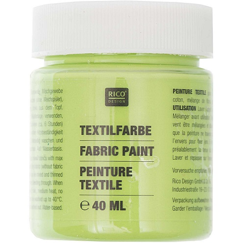 Textilfarbe, blattgrün, 40 ml, Rico Design. Art. 7014.515