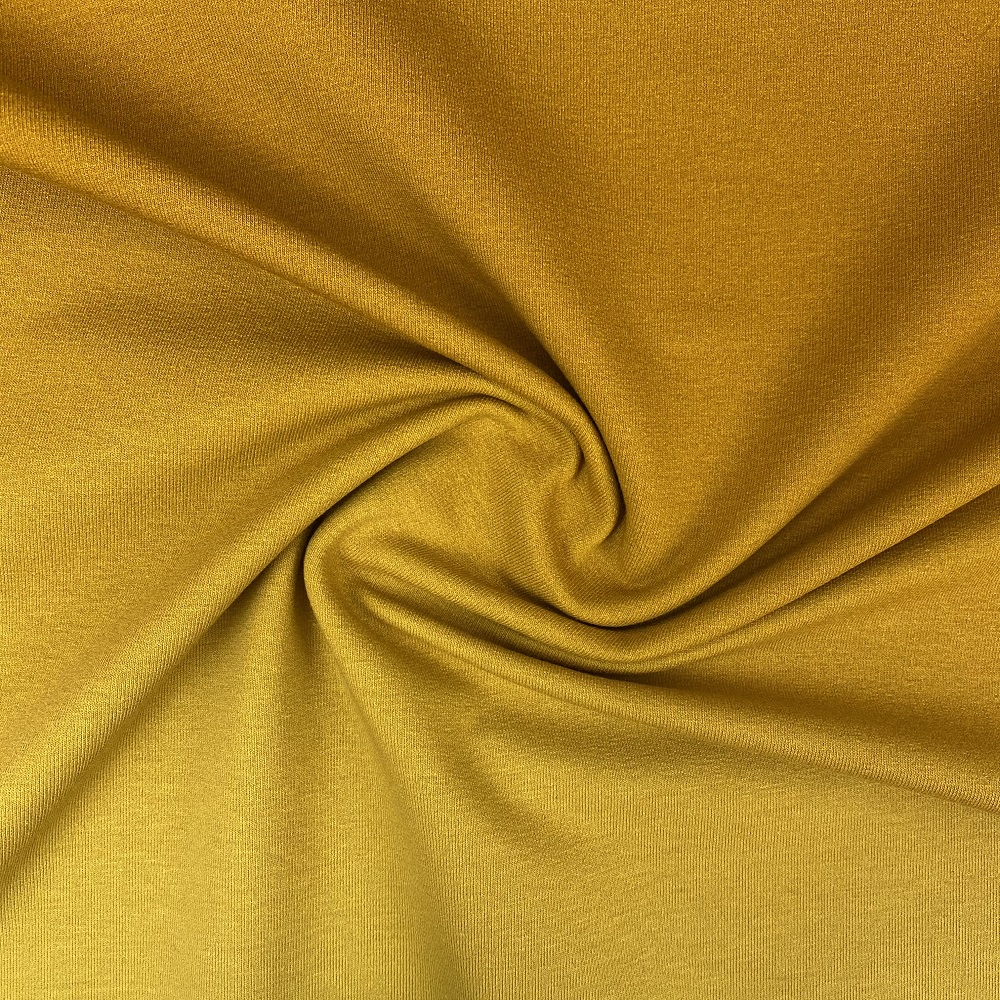 French Terry (Sommersweat), Farbverlauf ocre/maisgelb. Art. 07785.011