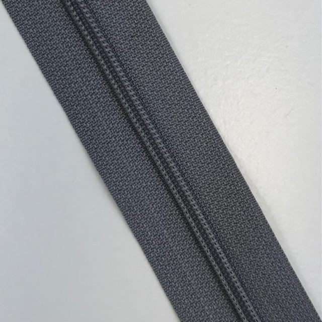 Endlosreißverschluss Meterware 3 mm, Union Knopf, grau, Farbe 76. Art. 4511
