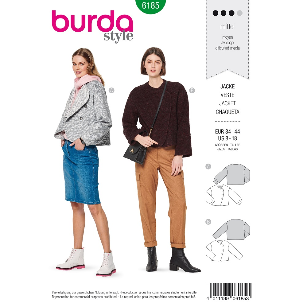 Trend-Jacken in Woll-Optik #6185