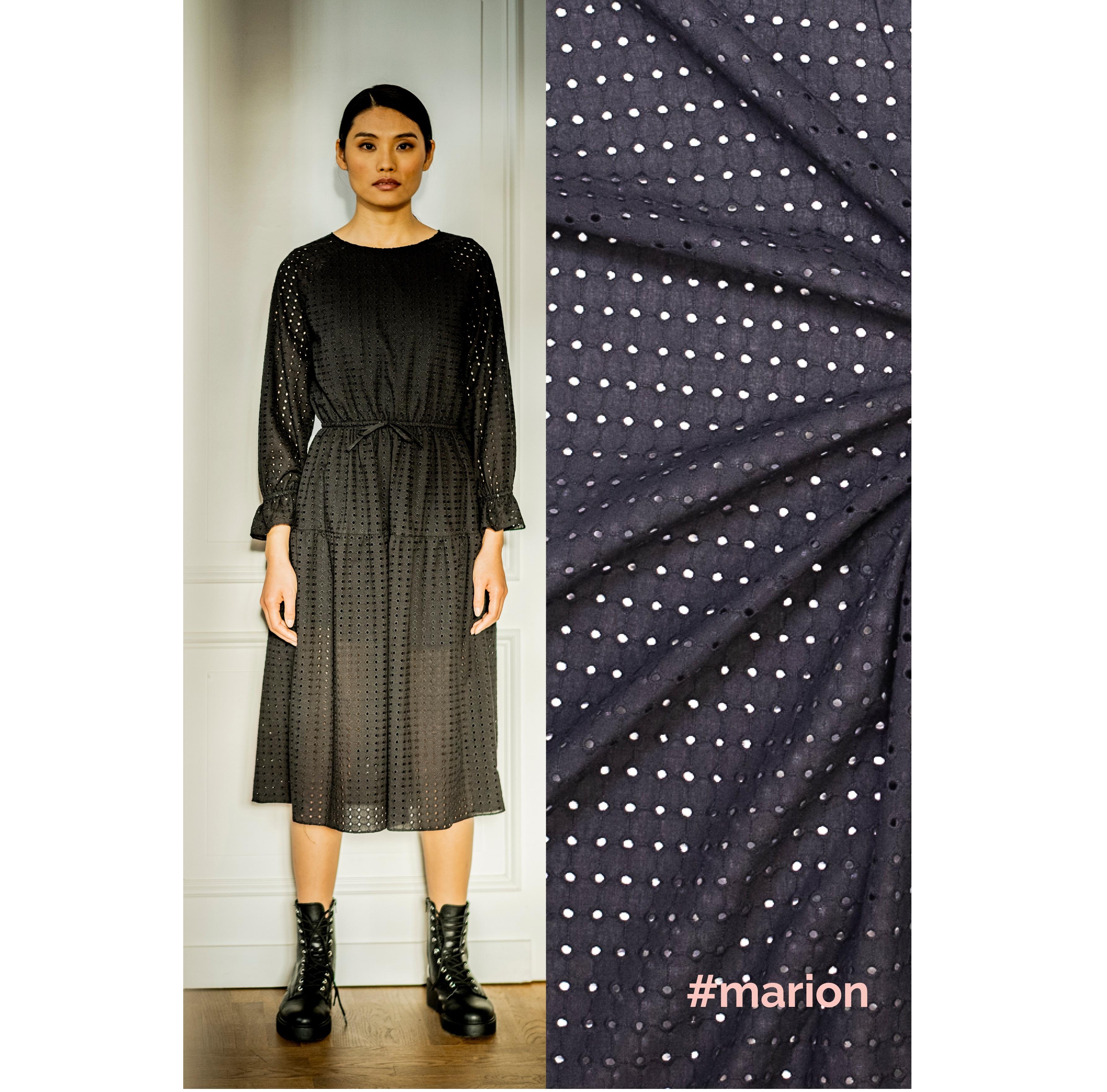 Fibre Mood #Marion, Stickerei, schwarz. Art. FM310125