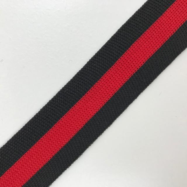 Galonband, Streifen, rot/schwarz. Art. SW11681