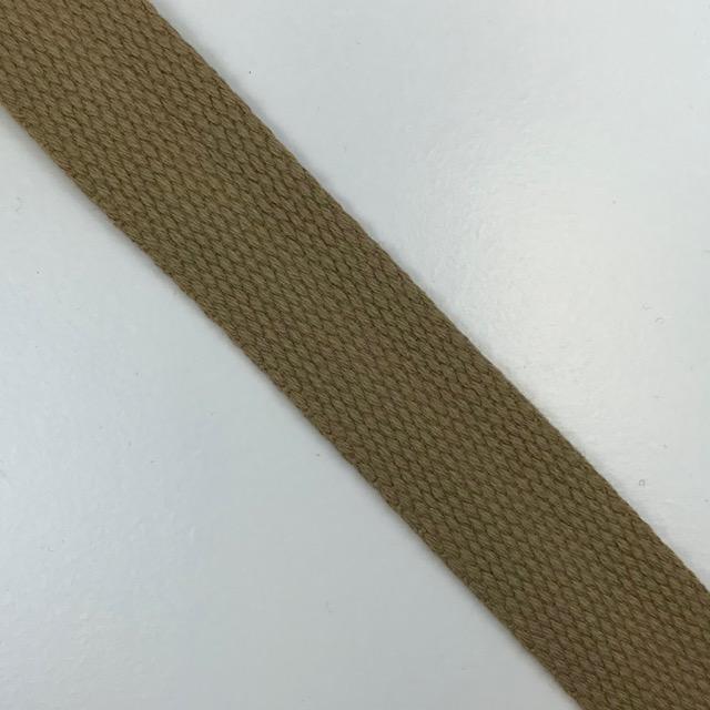 Baumwollgurtband  25 mm,  Union Knopf, beige. Art. SW11623
