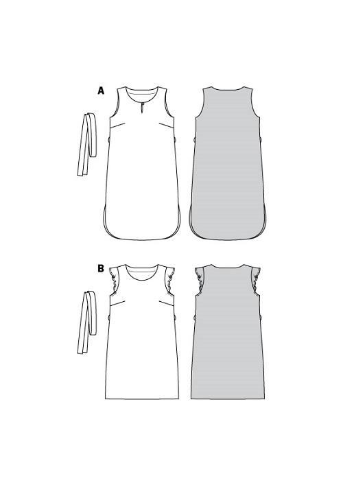 Ärmellose Sommerkleider #6106