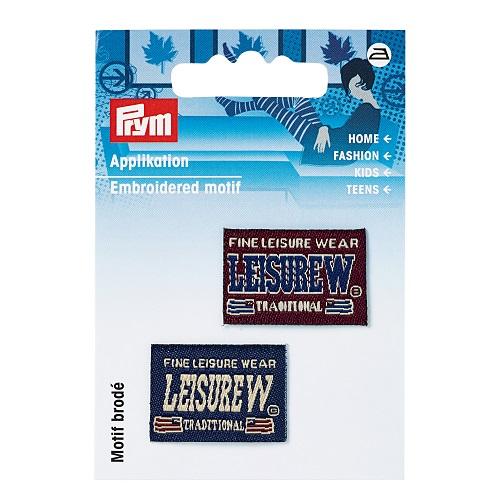 Applikation Jeanslabel, blau/rot, Leisure Wear. Art.925687