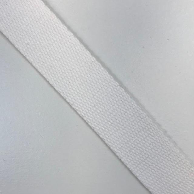 Baumwollgurtband  30 mm,  Union Knopf, weiß. Art. SW11628