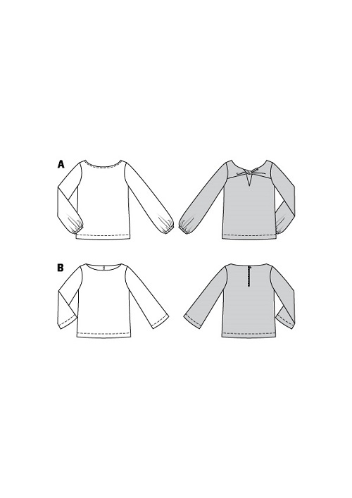 Shirts mit Details. Burda #6144
