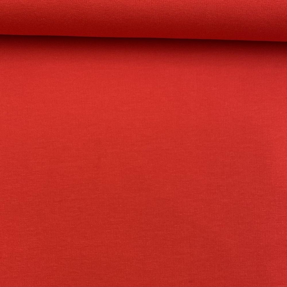 Soft French Terry/Sweatstoff angeraut, rot, uni. Art. SW10734