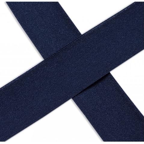 Elastisches Einfassband , matt - marine blau. Art.13-020-508