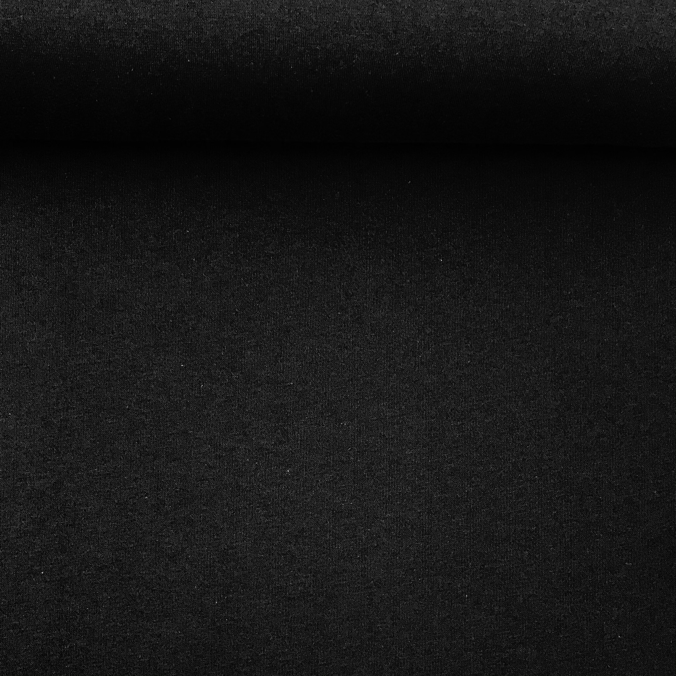 Soft French Terry/Sweatstoff angeraut, schwarz, uni. Art. SW10733
