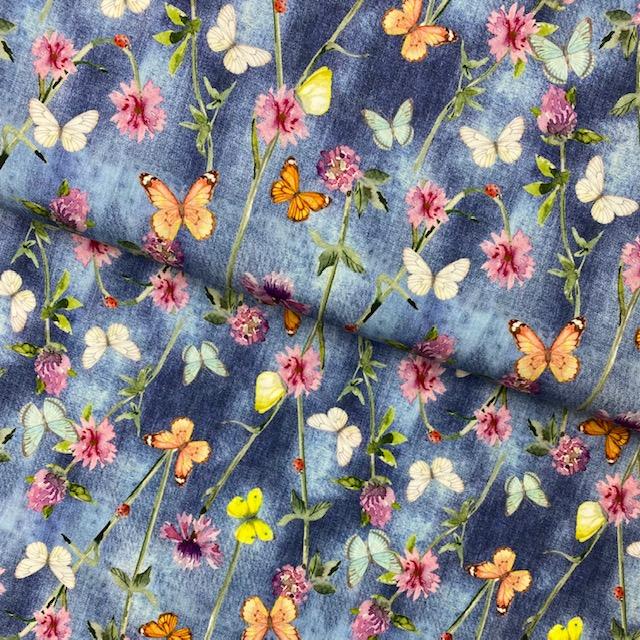 Baumwollpopelin, Stenzo, Schmetterlinge. Art. SW11409