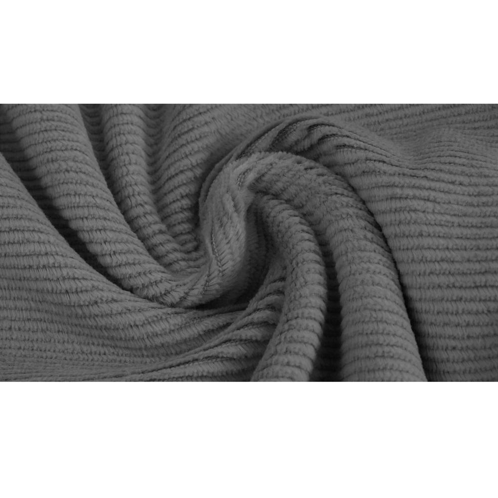 Gewaschener Baumwollcord, Cord-Jersey, grau. Art. 4527-68