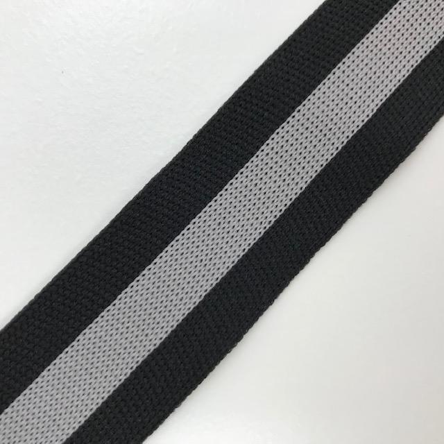 Galonband, Streifen, schwarz/grau. Art. SW11683