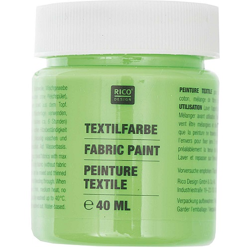 Textilfarbe, neongrün, 40 ml, Rico Design. Art. 7014.524