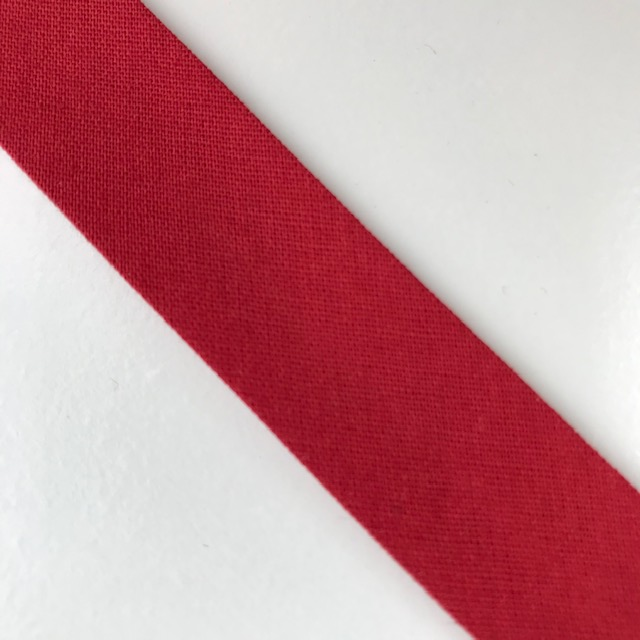 Baumwollpopeline - Schrägband, rot. Art. SW11672
