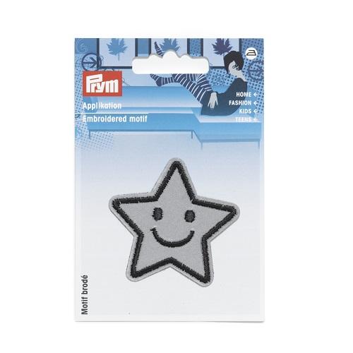 Applikation Reflex Stern selbstklebend und aufbügelbar, Prym. Art. 923220