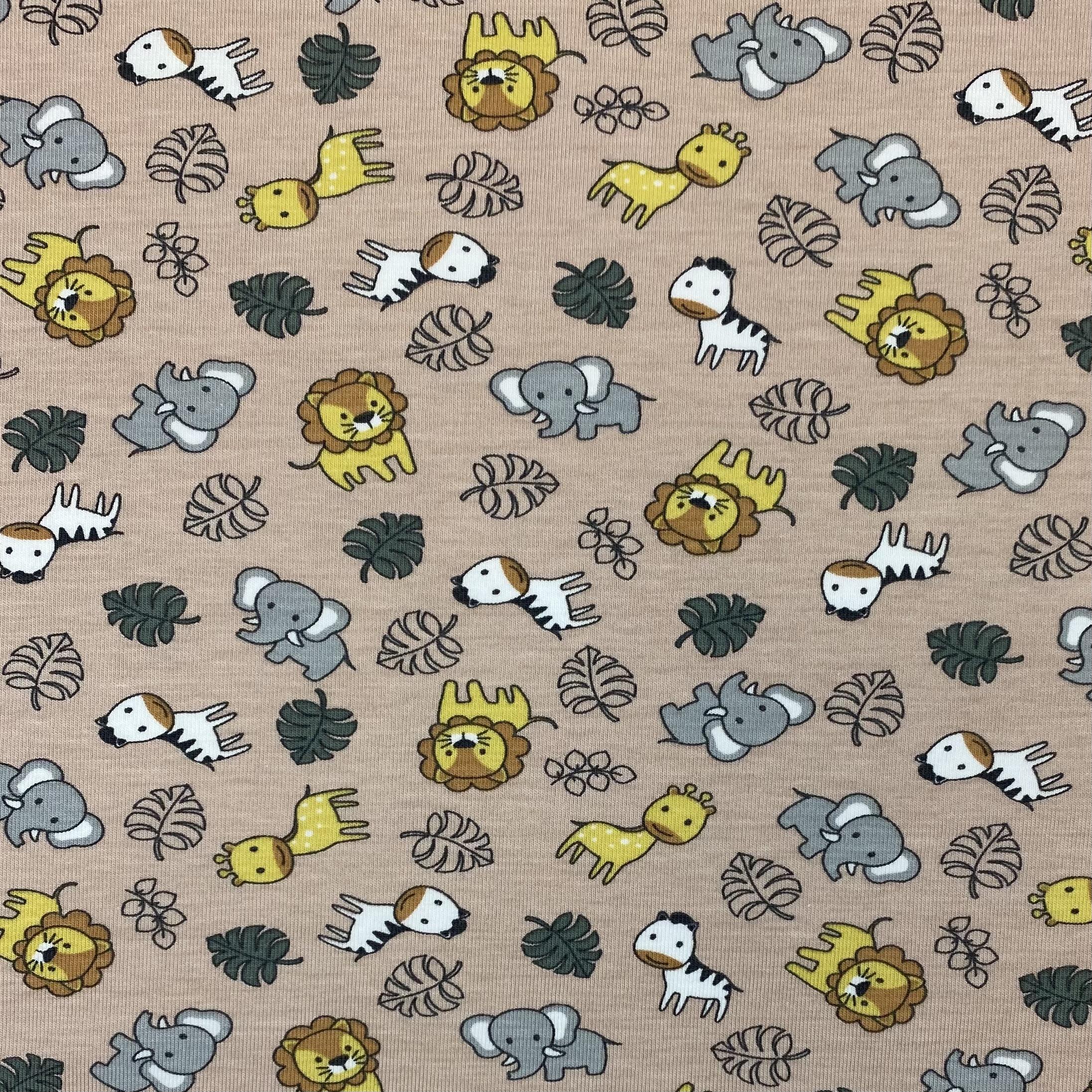 Organic Baumwolljersey, Tiere. Art. OR4501-031