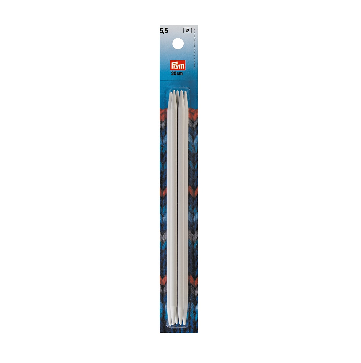 Strumpfstricknadeln, metall, 20 cm, 5,50 mm. Prym 218643