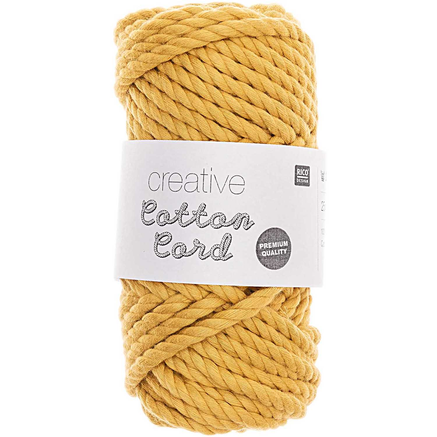 CREATIVE COTTON CORD 130G 25M, senf