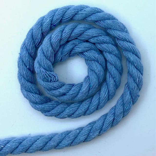 Baumwollkordel 8 mm,Baby Blau. Art. 008-500