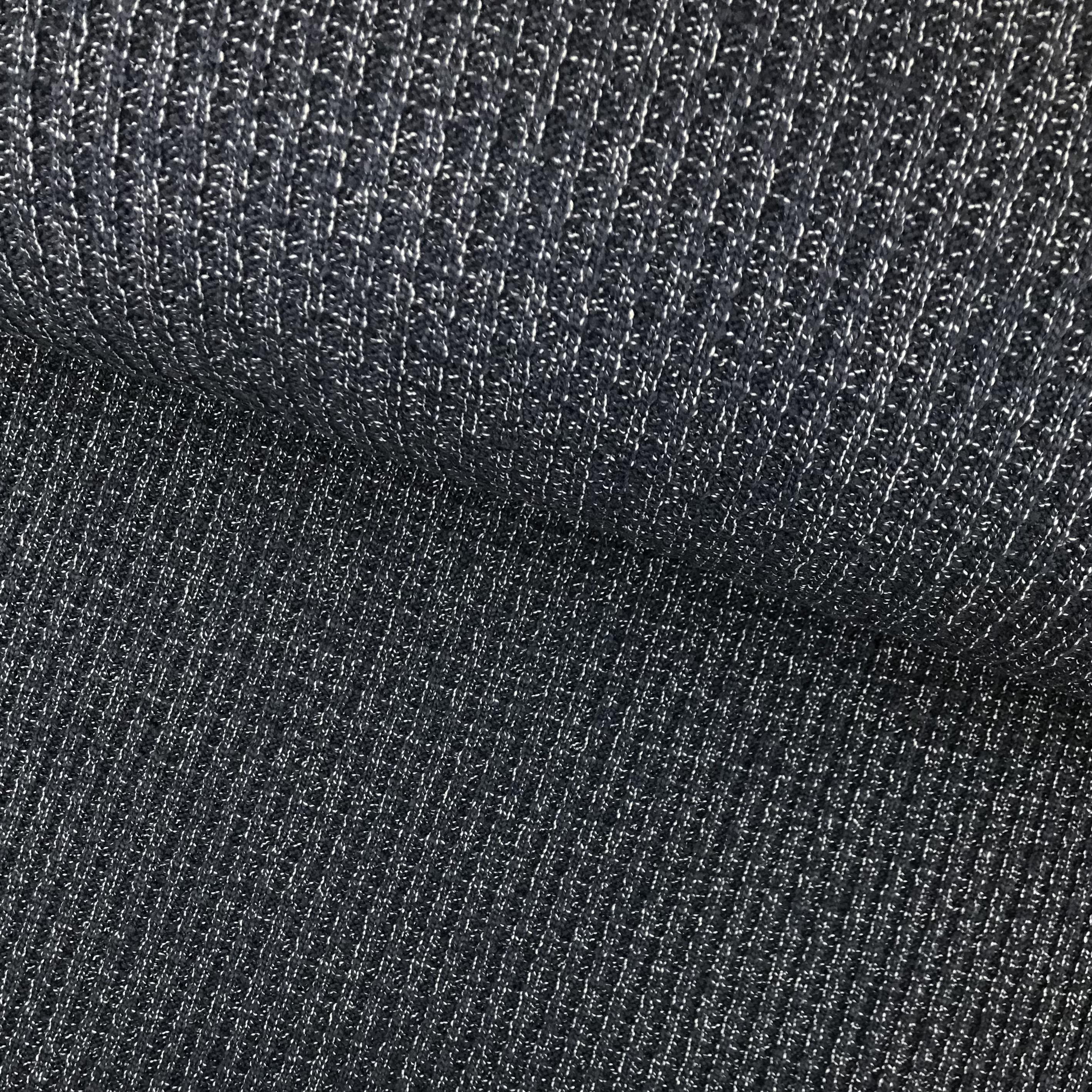 Strickstoff Baumwolle, blau meliert.  Art. 4808-08