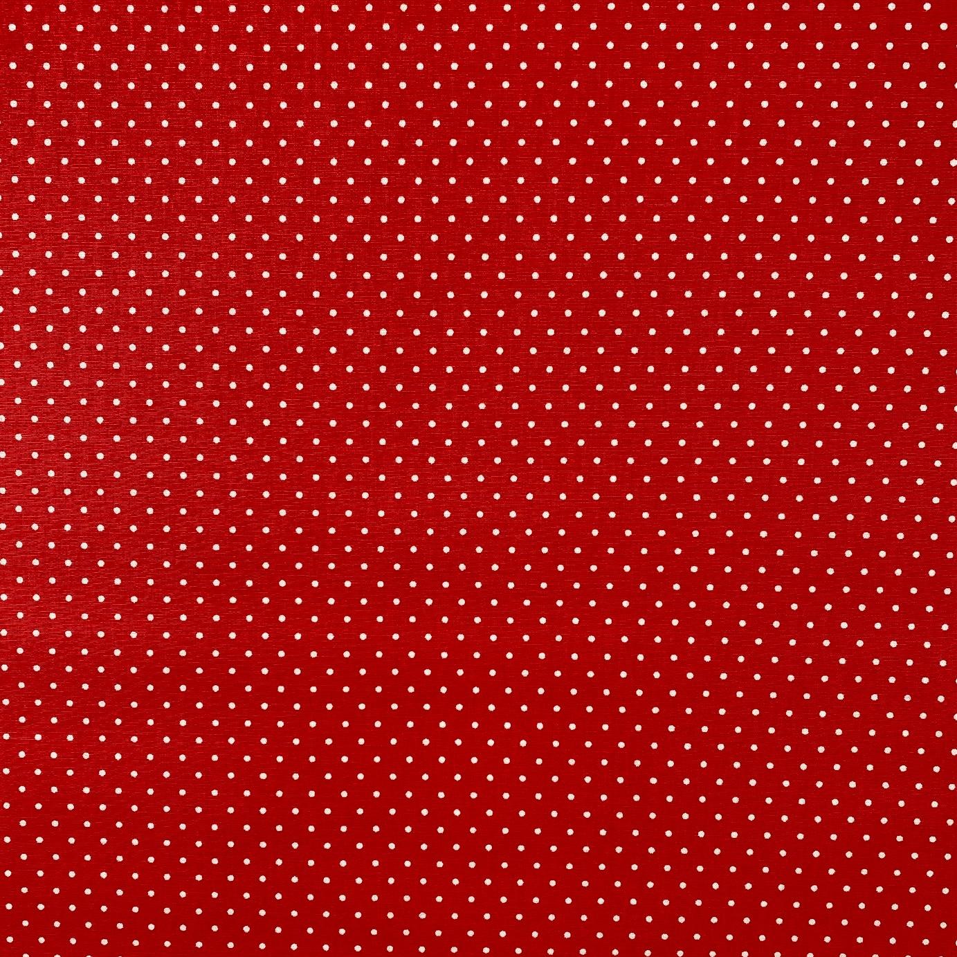 Baumwollpopeline, Punkte, rot. Art. SW11368