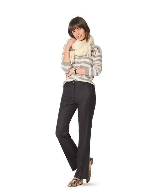 Hosen mit aufgesetzten Gesäßtaschen #6157