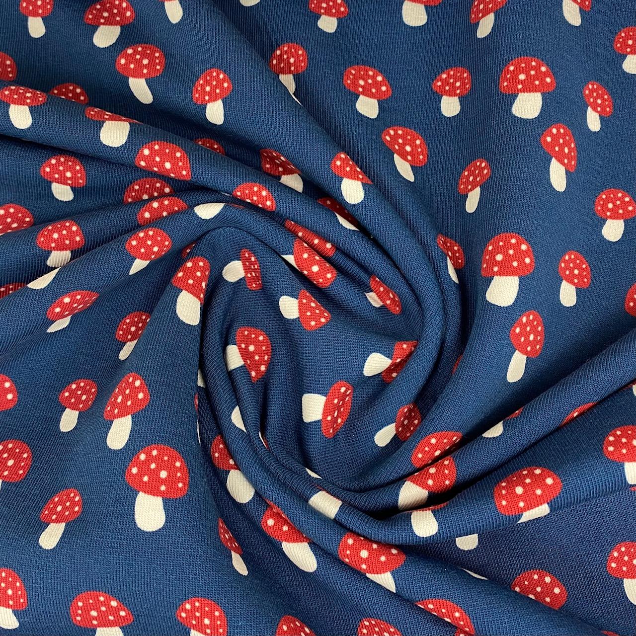 Sommersweat French Terry, FVJ Pilze.  Art. FVJ-2997