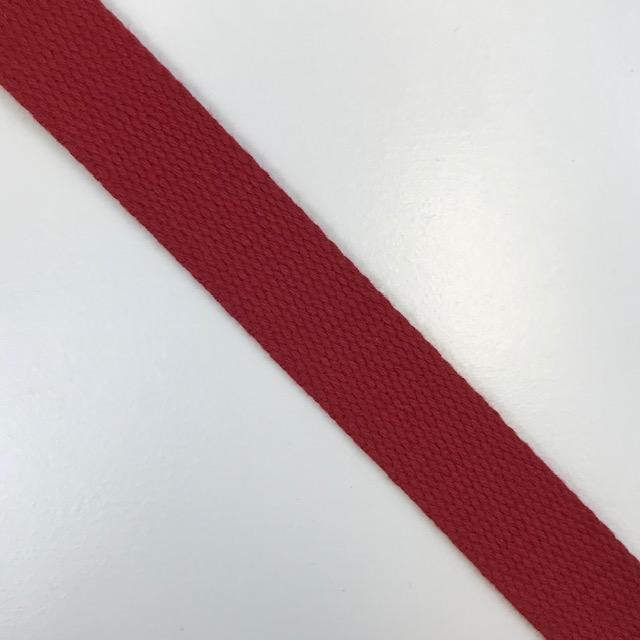 Baumwollgurtband  25 mm,  Union Knopf, rot. Art. SW11619