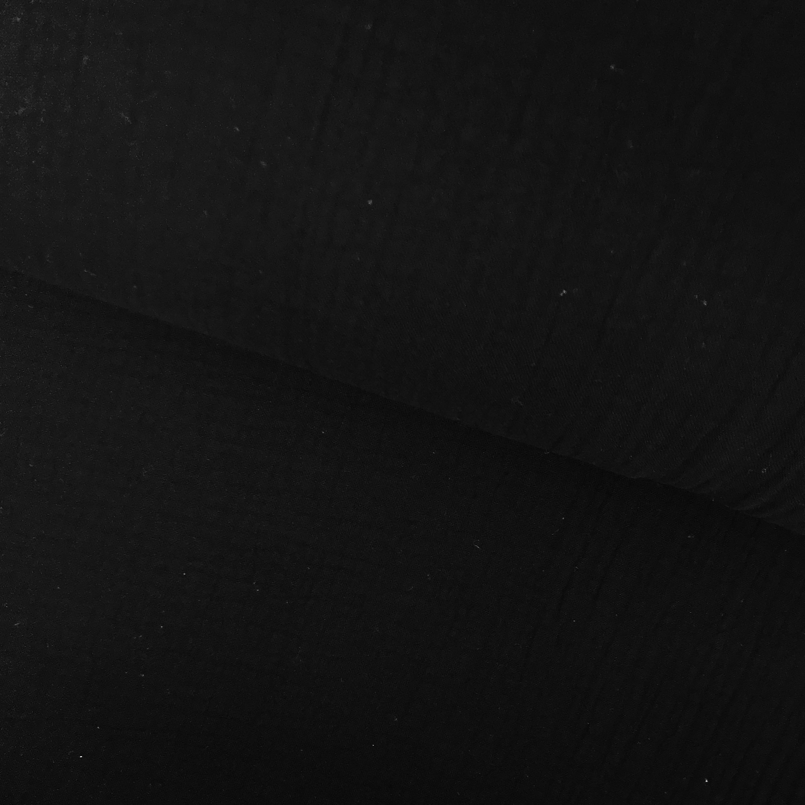 Baumwoll Musselin Double Gauze, schwarz. Art. 8290-069