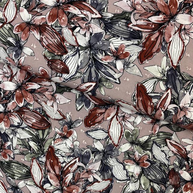 Viskosenstoff Dobby, Flowers. Art. PC1690-057