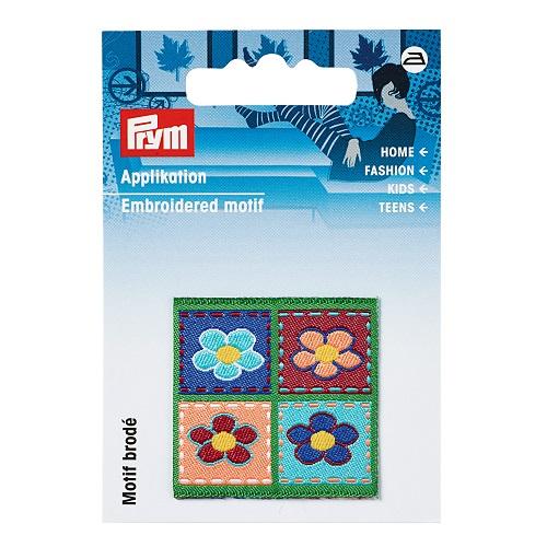 Applikation Patch 4 Blumen eckig. Art. 925210