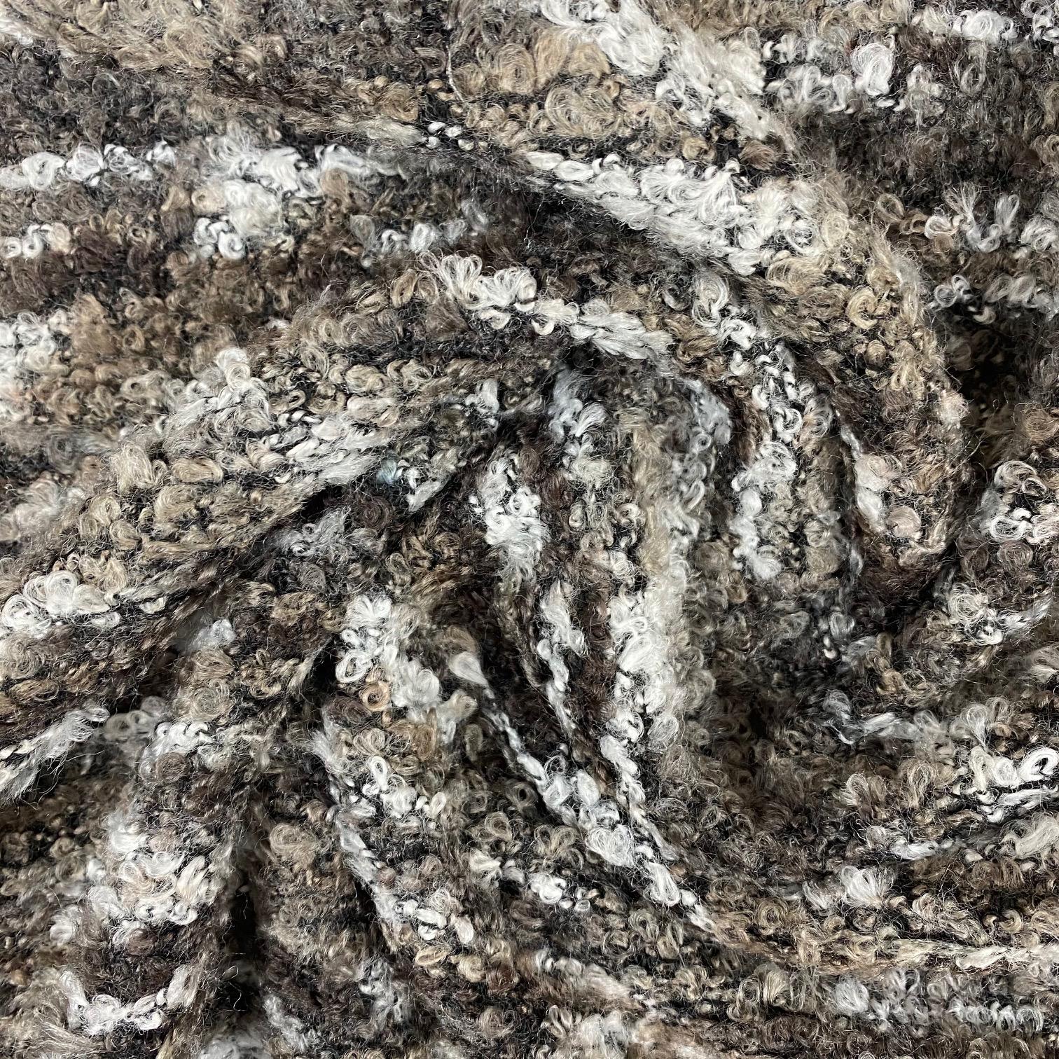 Strick-Bouclé, grau/braun.  Art. SW11294