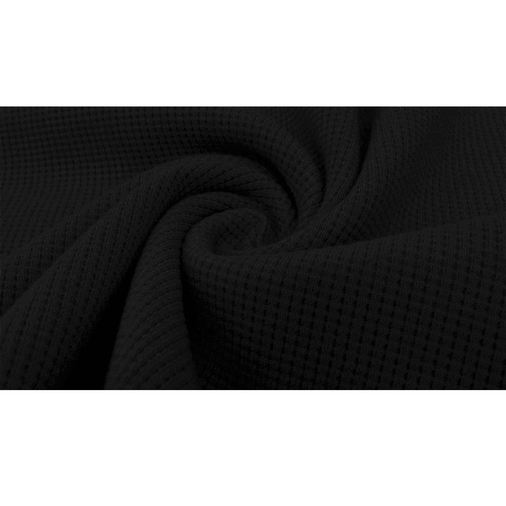 Waffelstrick Jersey, schwarz. Art. 5011-69