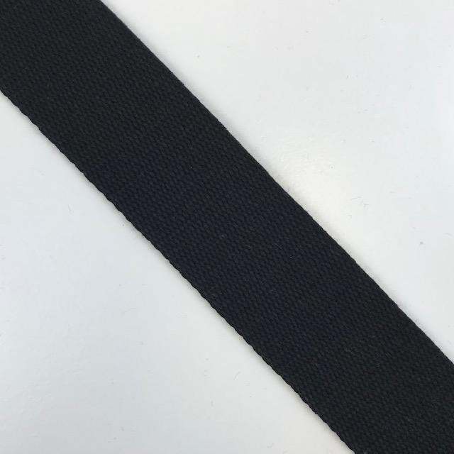 Baumwollgurtband  40 mm,  Union Knopf, schwarz. Art. SW11633