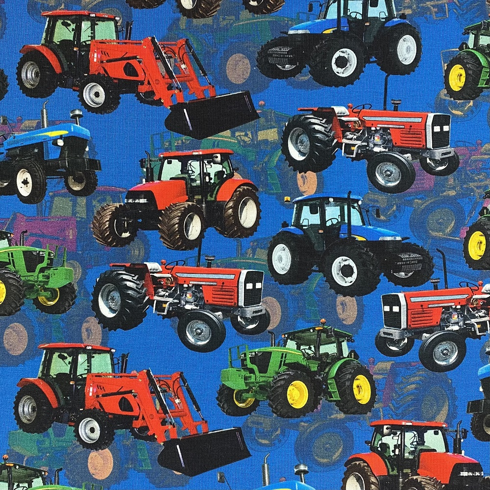 Baumwolljersey, Traktoren. Art. KC4280-003