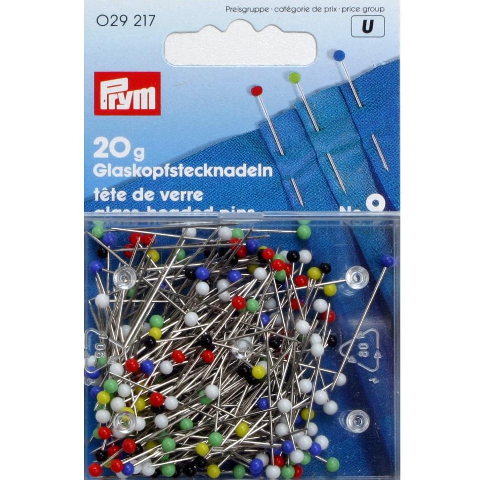 Glaskopfstecknadeln bunt, Prym - Art. 029217