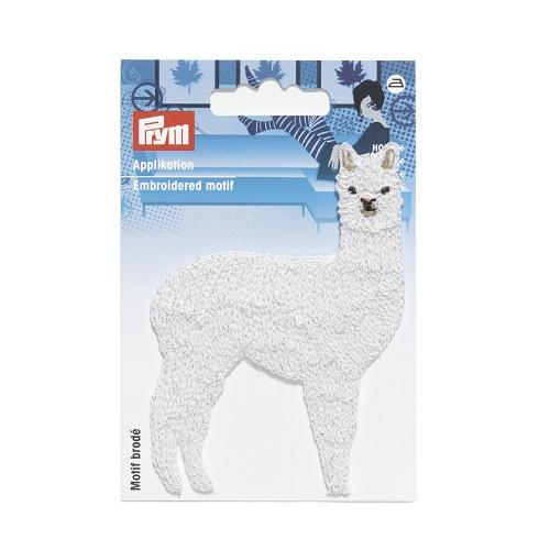 Applikation Lama glänzend, weiß. Art. 923221