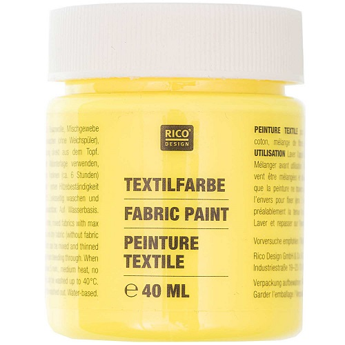 Textilfarbe, neongelb, 40 ml, Rico Design. Art. 7014.521