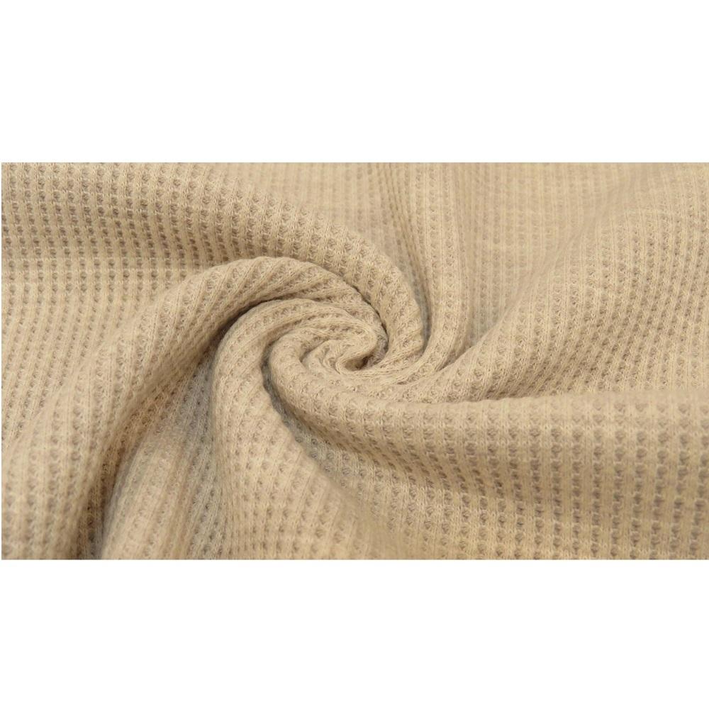 Waffelstrick Jersey, beige. Art. 5011-152