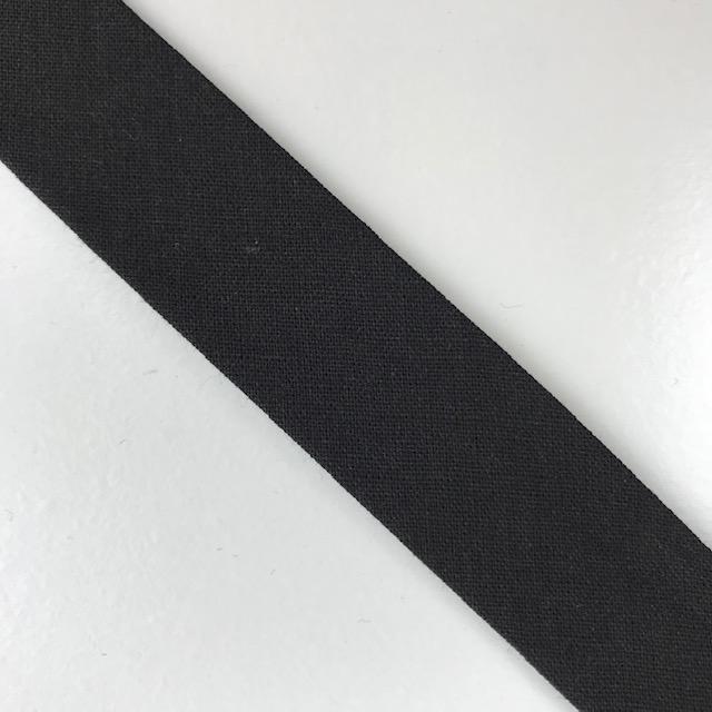 Baumwollpopeline - Schrägband, schwarz. Art. SW11668