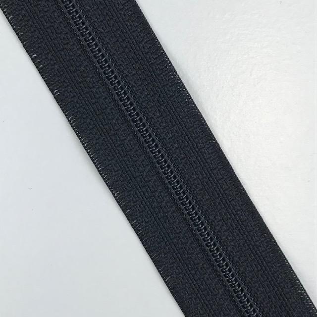 Endlosreißverschluss Meterware 3 mm, Union Knopf, schwarz, Farbe 80. Art. 4511