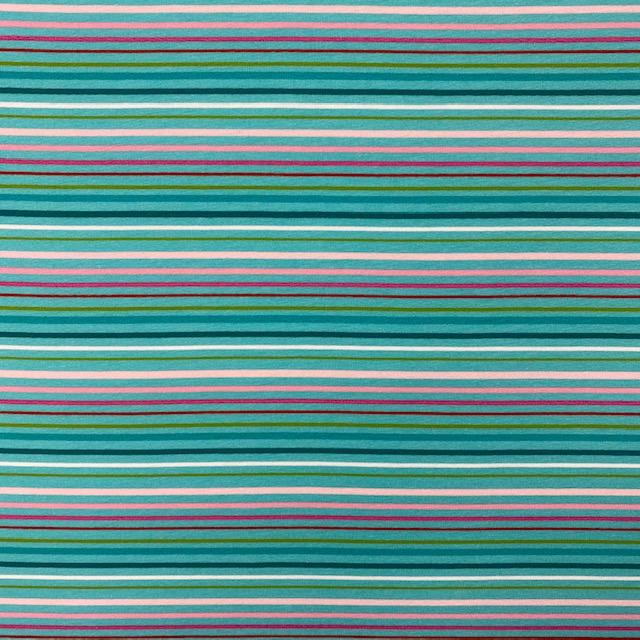 Baumwolljersey, Stenzo, Streifen, seegrün. Art. 17225
