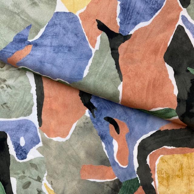 Viskose Stoff, Abstrakt, grün. Art. 922366