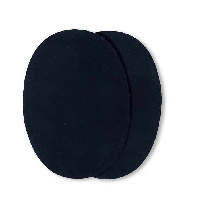 Patches Veloursleder, zum Aufnähen, 10 x 14cm, dunkelblau. Art. 929351