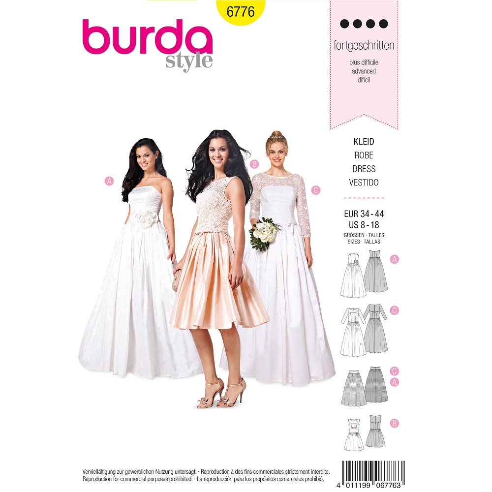 Korsagenkleid, Brautkleid, Spitzenoberteil und Tüllunterrock F/S 2015 #6776