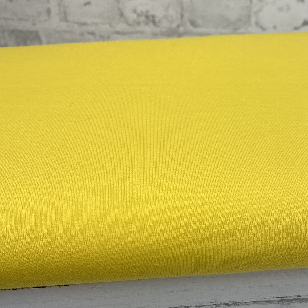 Baumwolljersey, uni, gelb. Art. 8973/35